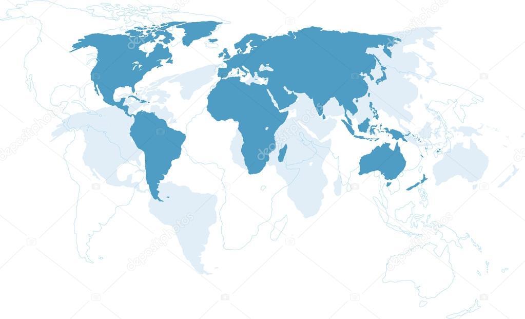 World map continents stock vector megastocker 33286357 world map continents vector by megastocker gumiabroncs Images