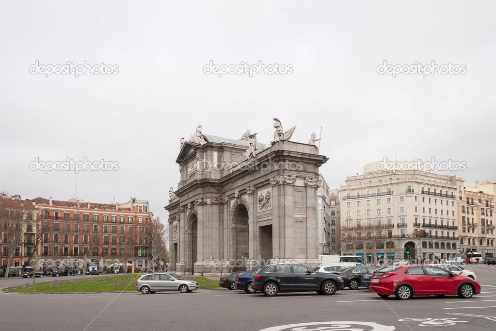 Arco De Triunfo En Madrid Foto Editorial De Stock C Megastocker