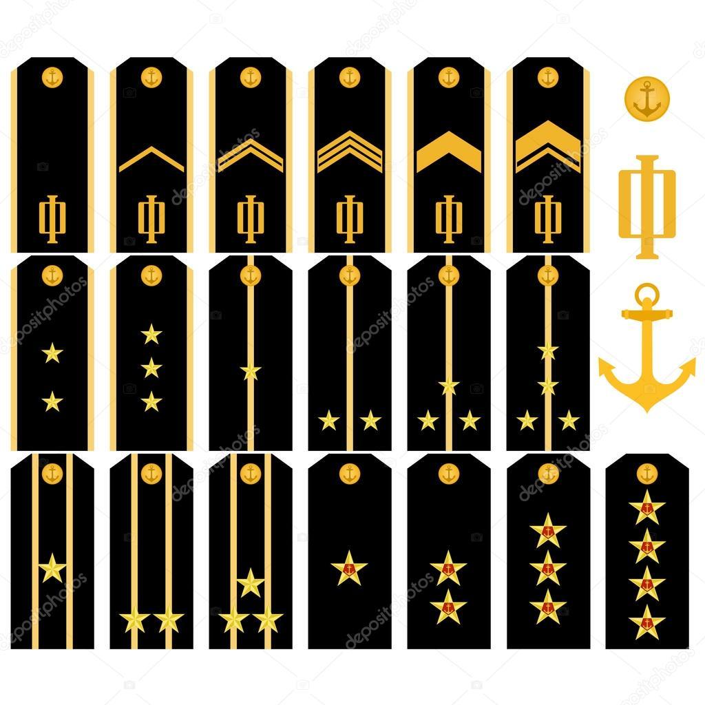 Звания морского флота россии и погоны