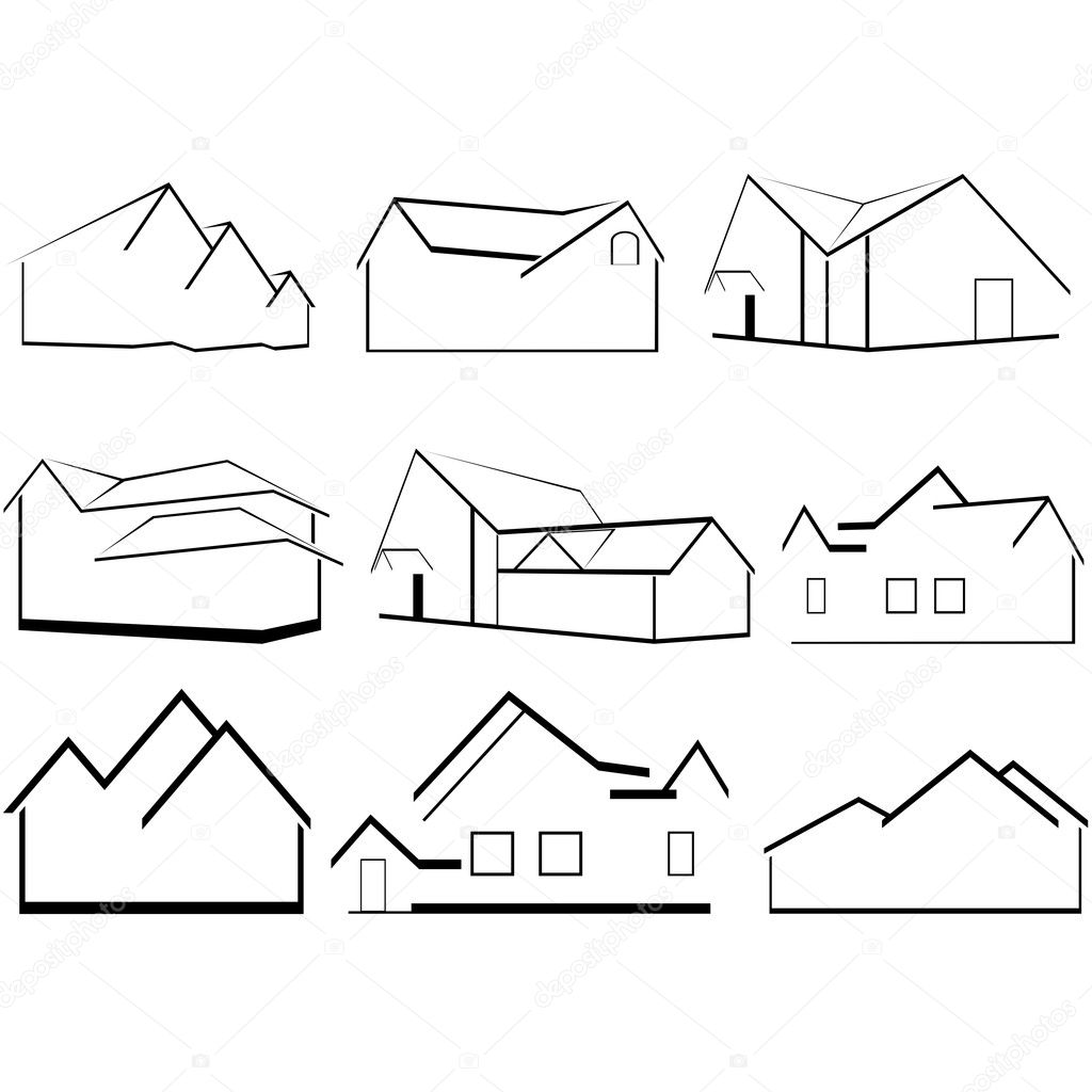 A business card with a picture of houses the illustration on a white background vector by guarding