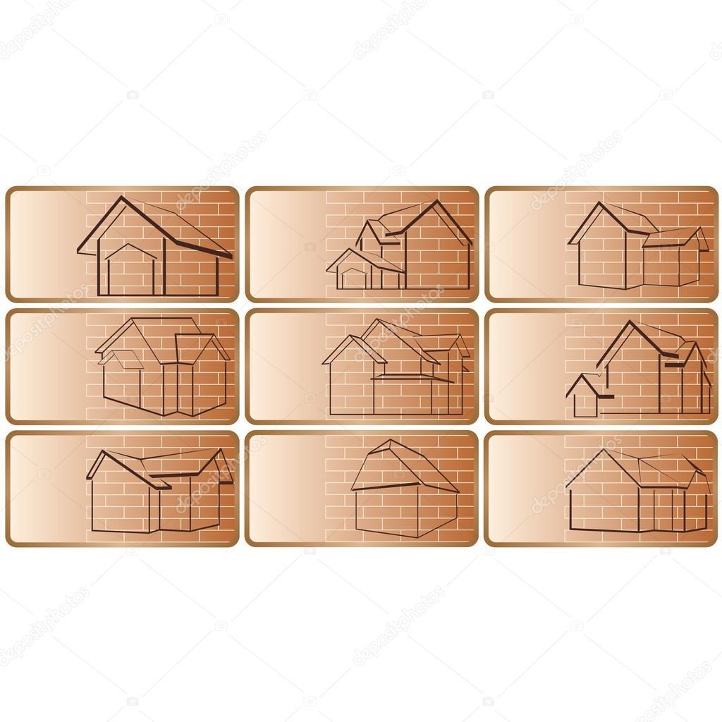 Une Carte De Visite Avec Photo Maisons En Arrire Plan Dun Maonnerie Brique Lillustration Sur Fond Blancuna Tarjeta Con Una Foto Casas