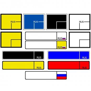Car license plate frames Russia