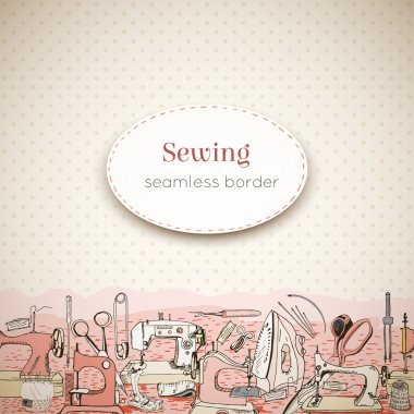Sewing tools, seamless border