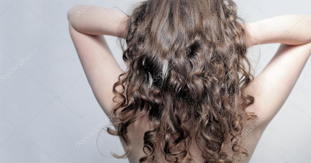 Beautiful Long Wavy Hair Back Stock Photo Mettus 14402953
