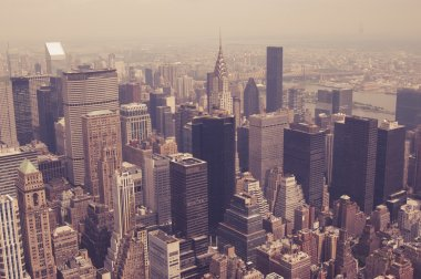 NYC from above toned