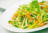 salát z čerstvé zeleniny s zelí a mrkev