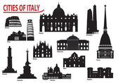 Photo Silhouettes of Italian cities