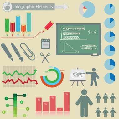 Infographics elements. Education symbols. For you design stock vector