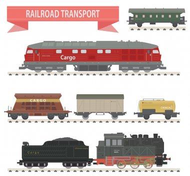 Trains. Railroad set