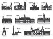 A városok sziluettek