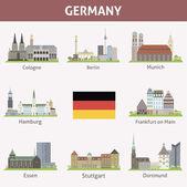 Fotografie Deutschland. Symbole der Städte