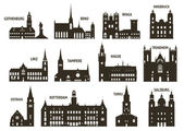 Photo Silhouettes of cities