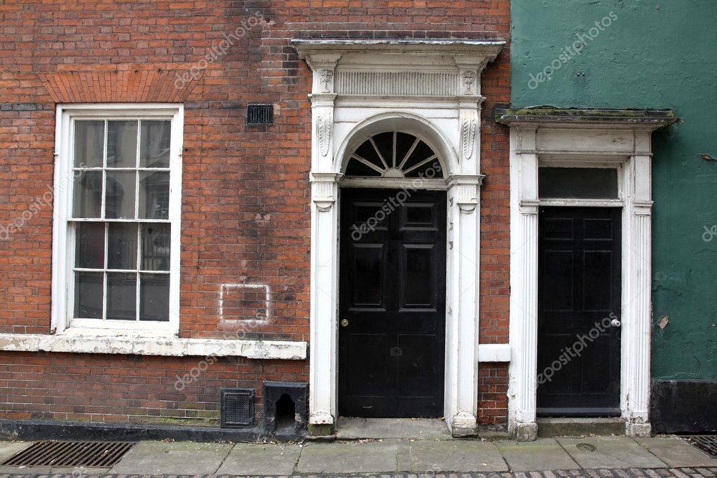 Old classic victorian door and window in England UK \u2014 Stock Photo & Old classic victorian door and window in England UK \u2014 Stock Photo ...