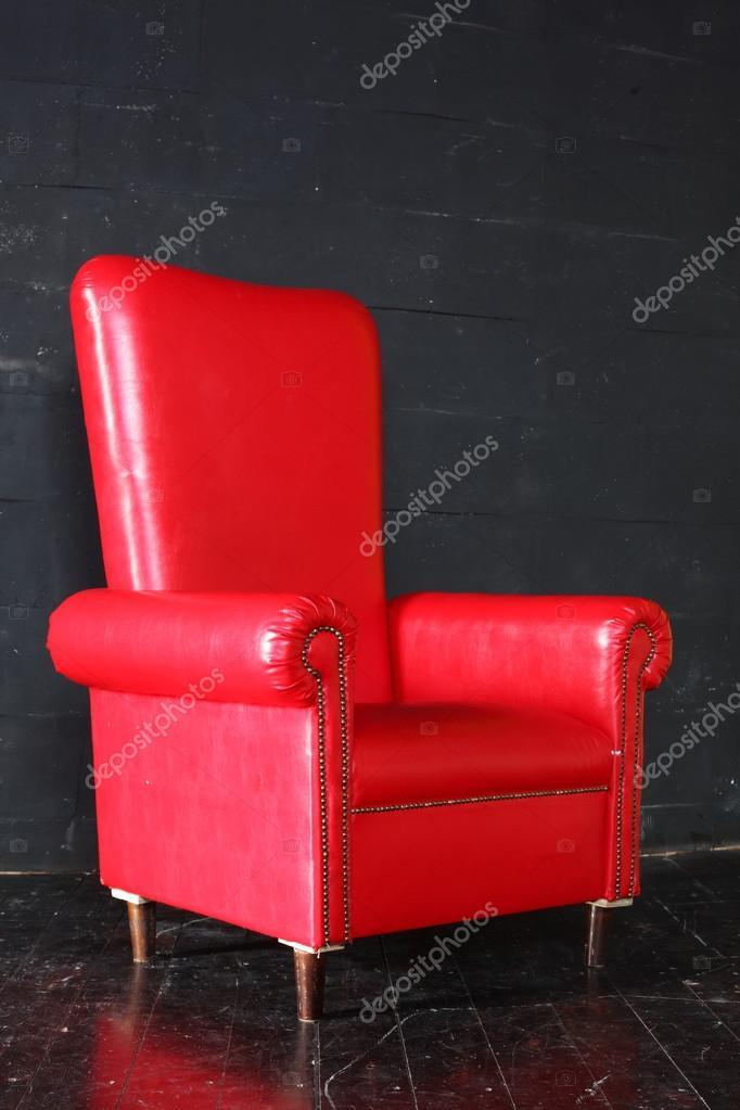 Rode Lederen Fauteuil.Luxe Rode Lederen Fauteuil Stockfoto C Konstantin32 16045433