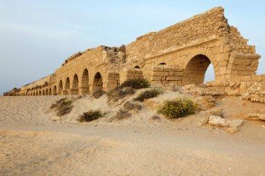 Roman aqueduct in Ceasarea at the coast of the Mediterranean Sea