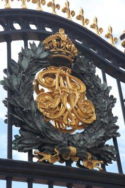 Buckingham Palace Gate. Royal Crest Detail