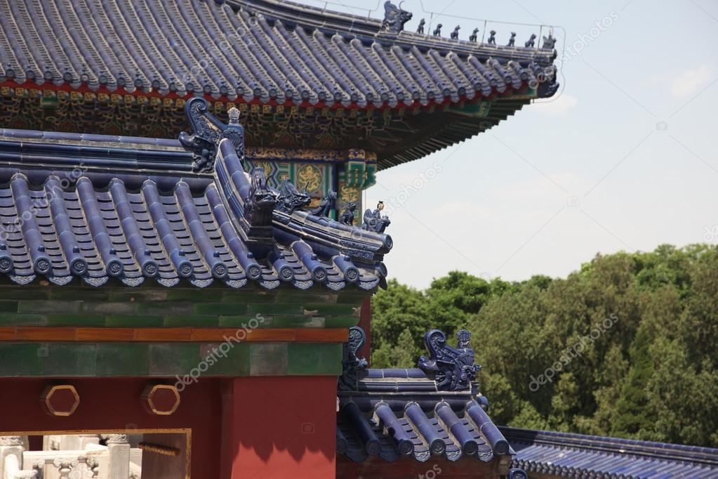 architecture details in the forbidden city beijing china stock