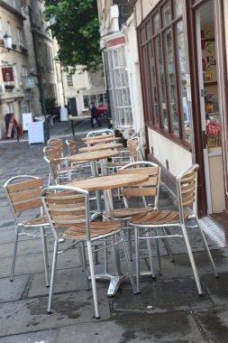 Street cafe in Bath, England