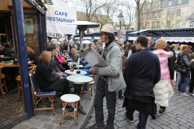 View of typical paris cafe