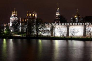 Beautiful night view of Russian orthodox churches