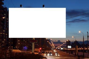 Empty roadside billboard