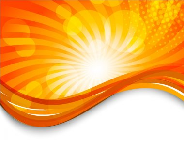 Abstract orange background with circles. Bright illustration clip art vector