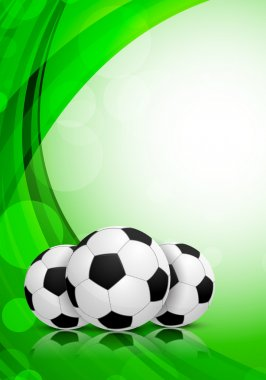 Background with soccer balls