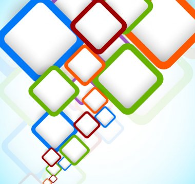 Bright colorful background with squares