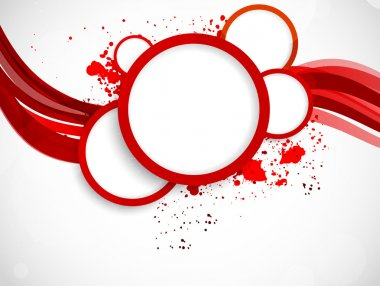 Background with red circles. Abstract colorful background clip art vector