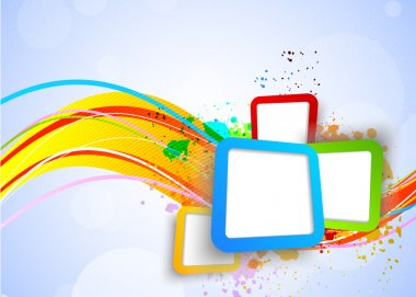Colorful background with squares