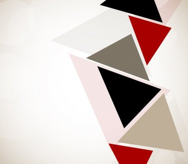 Abstract design with triangles