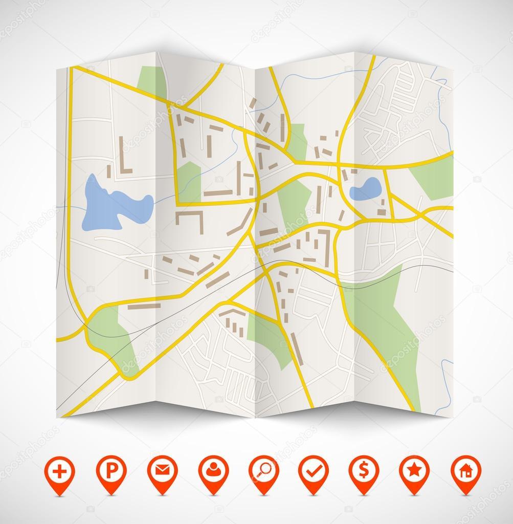 carte de navigation image vectorielle denchik 32730787. Black Bedroom Furniture Sets. Home Design Ideas
