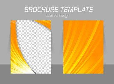 Orange flyer template
