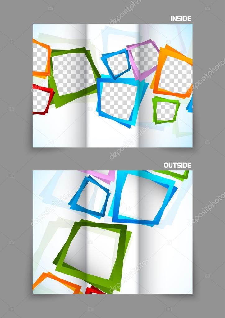 Folleto de triple pliegue — Archivo Imágenes Vectoriales © Denchik ...