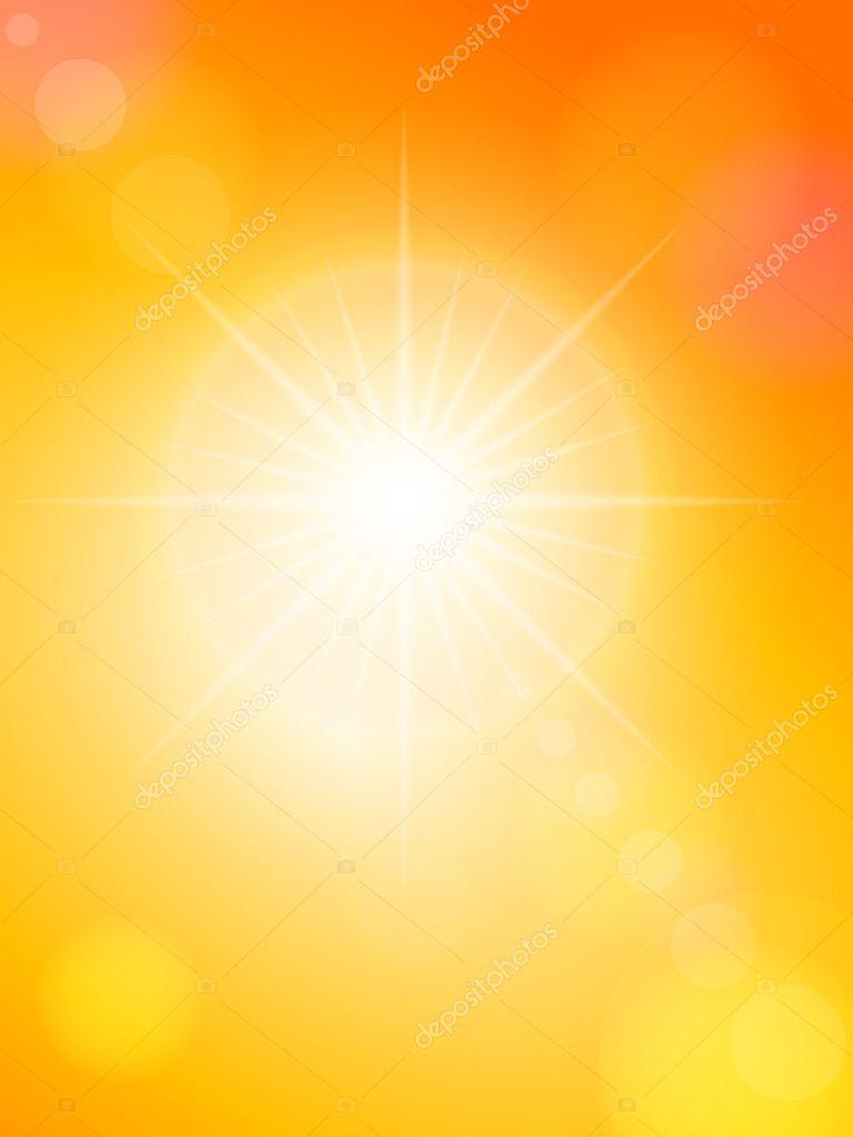 Sunspot and orange sky