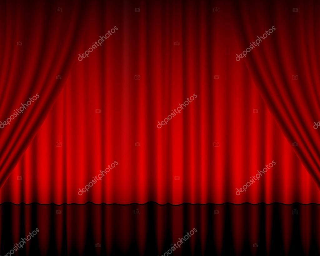 Theater gordijn — Stockvector © julydfg #15692063