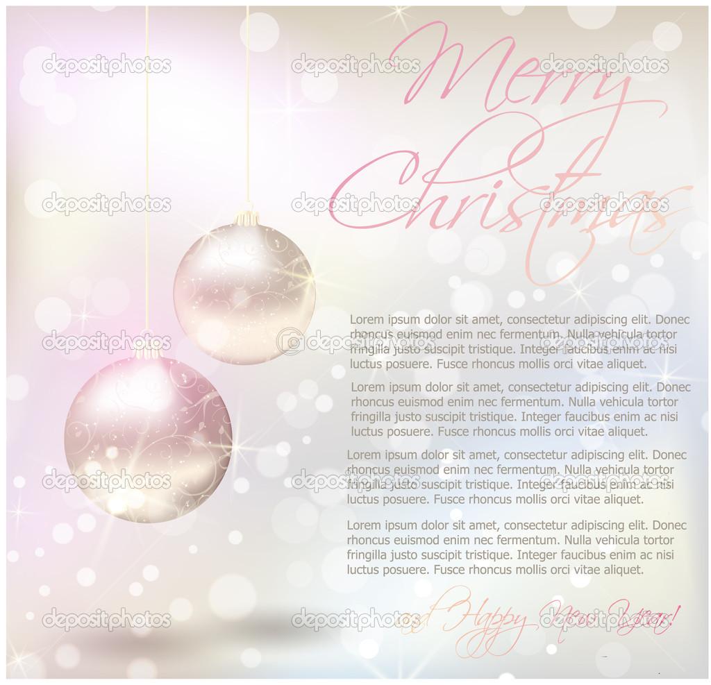 Weihnachtskarte mit leseprobe stockvektor artlana - Weihnachtskarte spanisch ...
