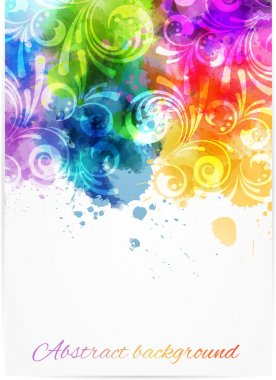 Swirly floral background