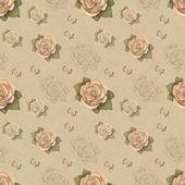 Vintage seamless pattern with rose illustration