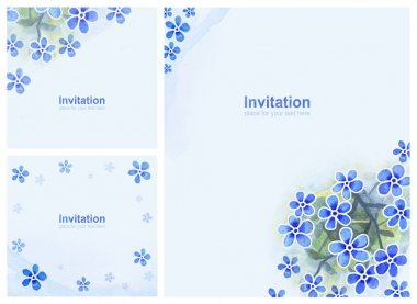 Elegant background with watercolor flowers