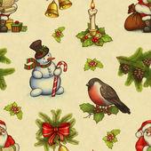 Fényképek Vintage zökkenőmentes karácsonyi minta