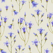 Fotografie Bluebell flower illustration. Watercolor seamless pattern