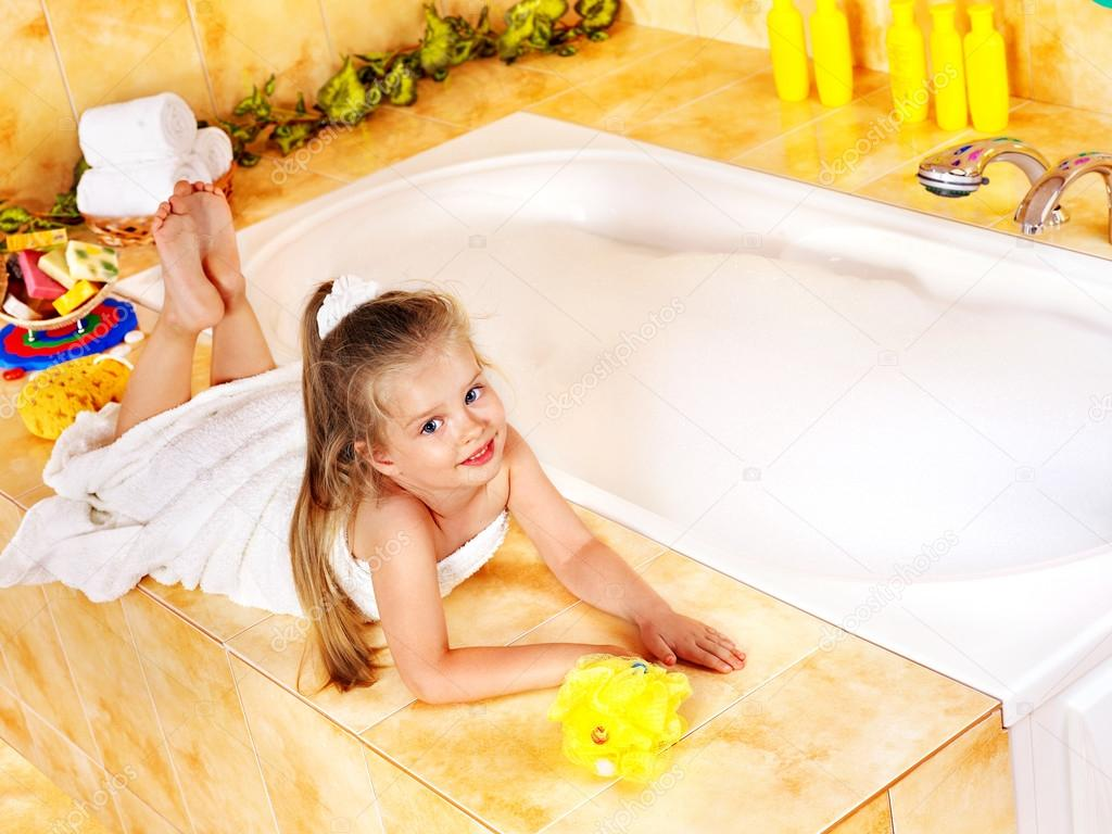Child Bathing In Bathroom  Stock Photo  Poznyakov 12797841-9801