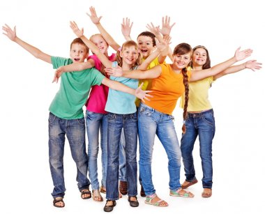 Group of teen