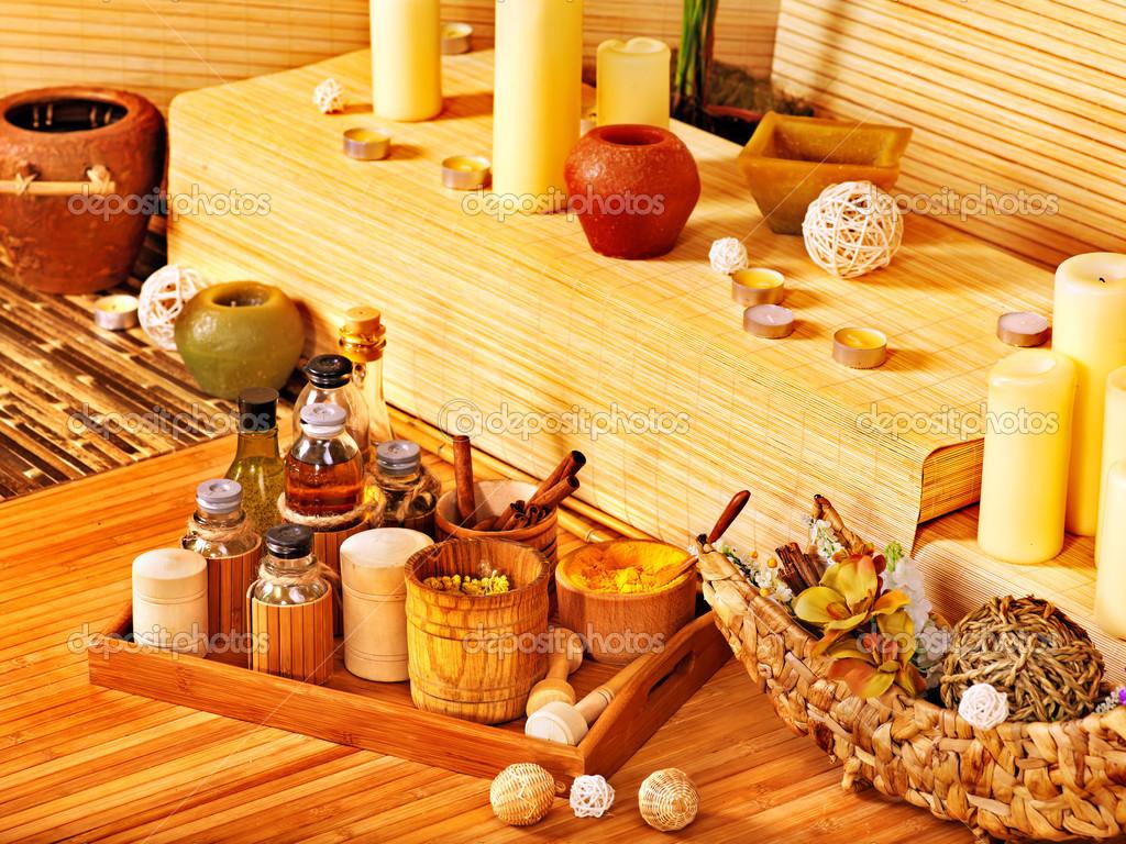 Arredamento spa con candela foto stock poznyakov 14159957 for Arredamento stock