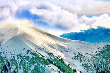 """Картина, постер, плакат, фотообои """"вершина снежной горы . постеры"""", артикул 19216889"""