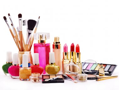 Decorative cosmetics for makeup.