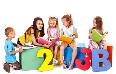 Children reading book