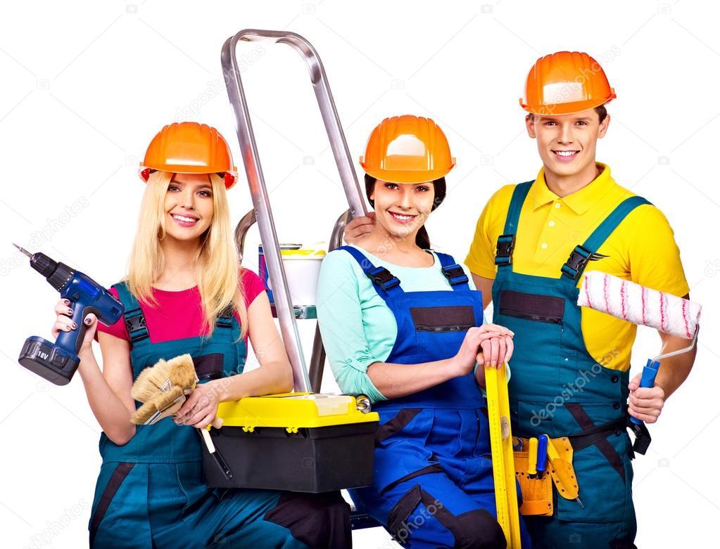 Builders With Construction Tools Stock Photo C Poznyakov 38778599
