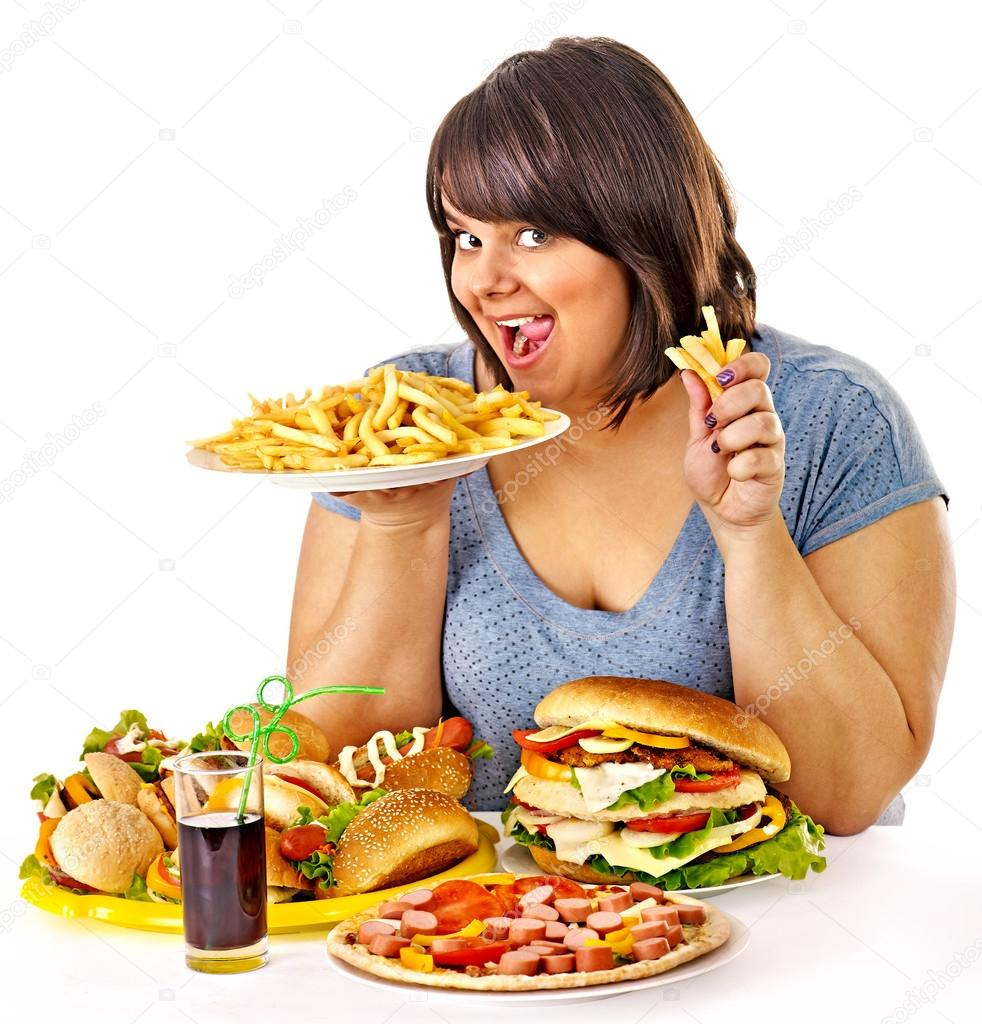 Картинки по запросу depositphotos 44264435-stock-photo-woman-eating-fast-food